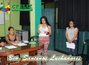 Secretaria del Banco Comunal dando algunas indicaciones