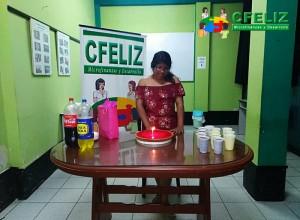 Enero - Celebrando el cumpleaños de la promotora Geraldine